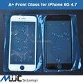 A + frontal exterior lente cristal para el iPhone 6 cristal de la pantalla de panel táctil de reemplazo de la cubierta negro White10PCS / Lot aceite de protección de agua