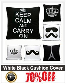 black white cushion cover