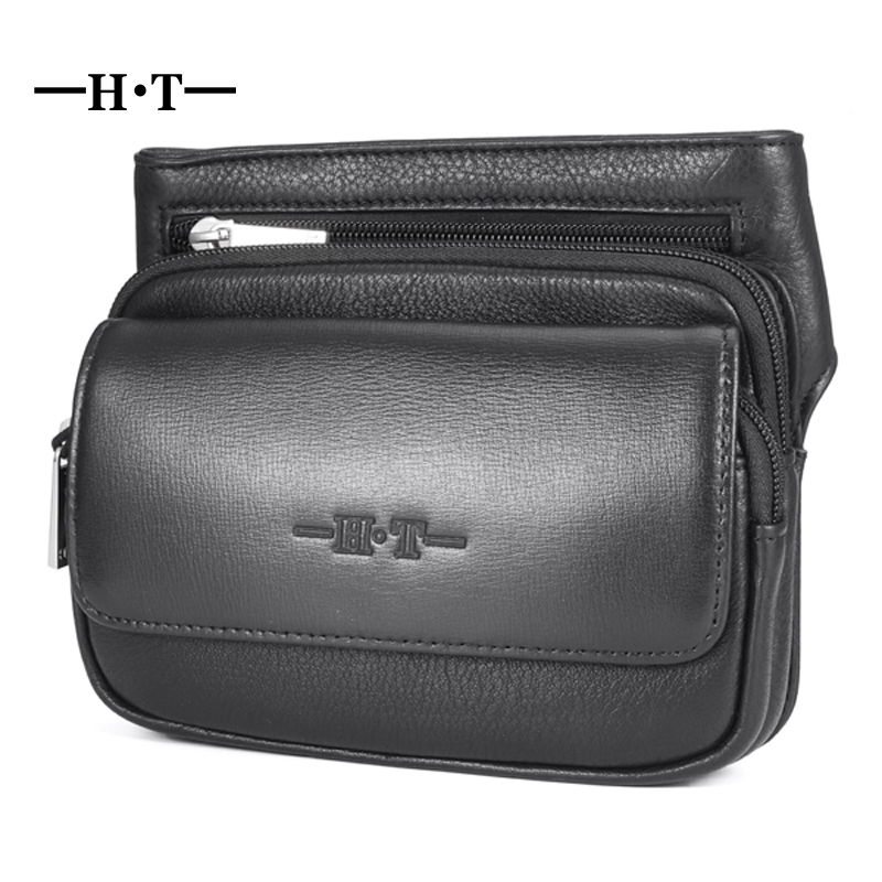 In Creative Genuine Leather Messenger Bag Men Waist Bags Retro Cool Outdoor Phone Pouch Travel Leg Bag Zipper Vintage Male Waist Pack Novel Design;