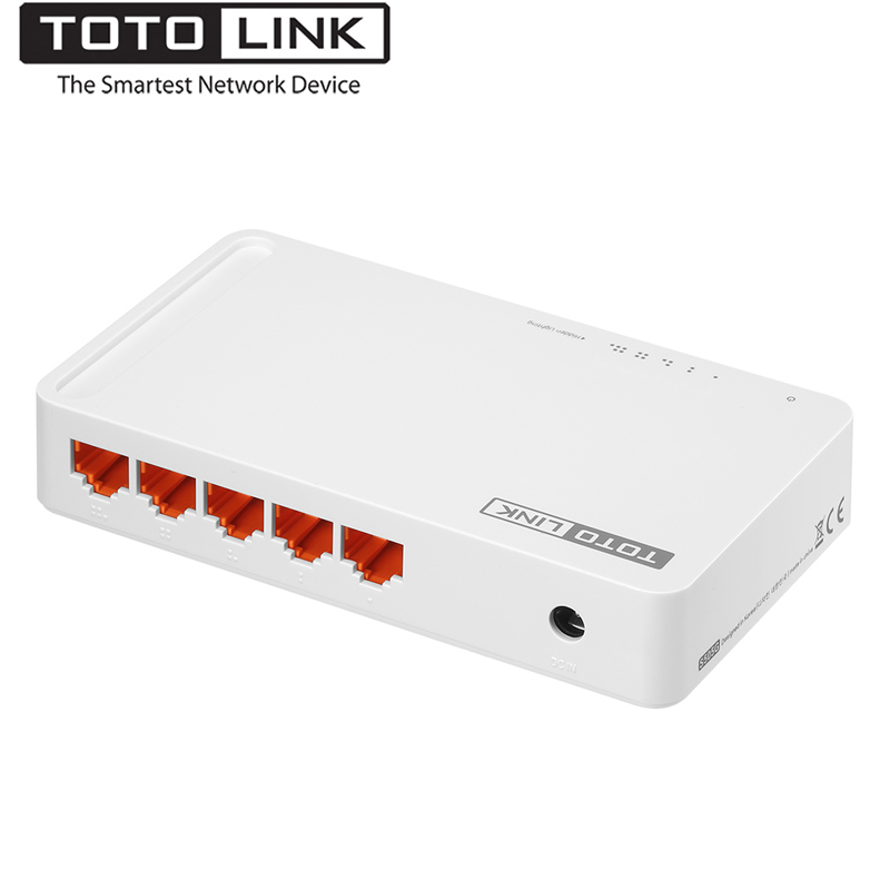 TOTOLINK S505G 5-Port Gigabit Desktop Switch, Small and Smart Network 1000Mbps Switch for Home/office, Easy Setup, Plug and Play