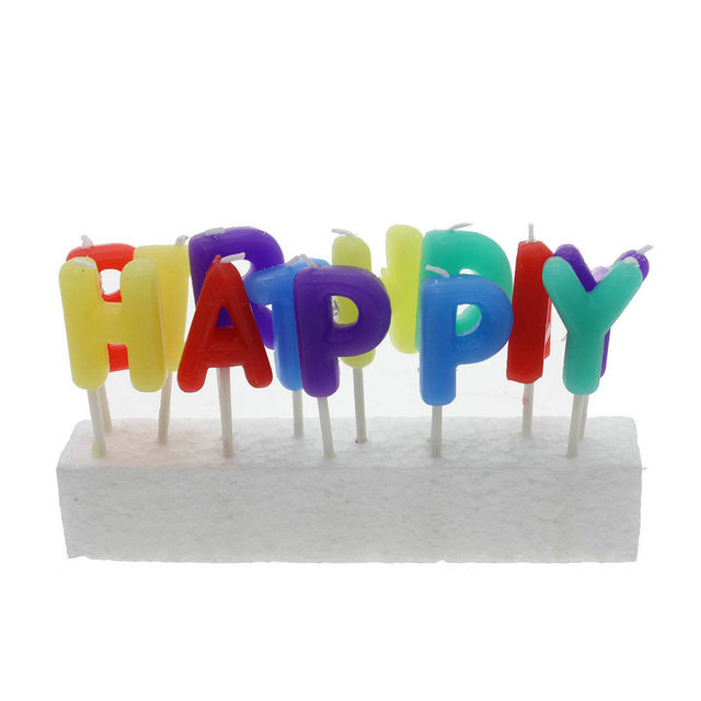 new 2015 birthday cake decoration party happy birthday letter candle