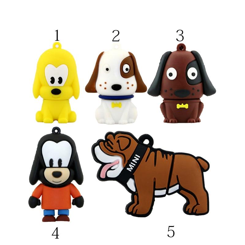 קריקטורה יפה כלב בול גדול USB 2.0 זיכרון מקל USB כונן פלאש כונן pendrives עט כונן 4GB 8GB 16GB 32GB