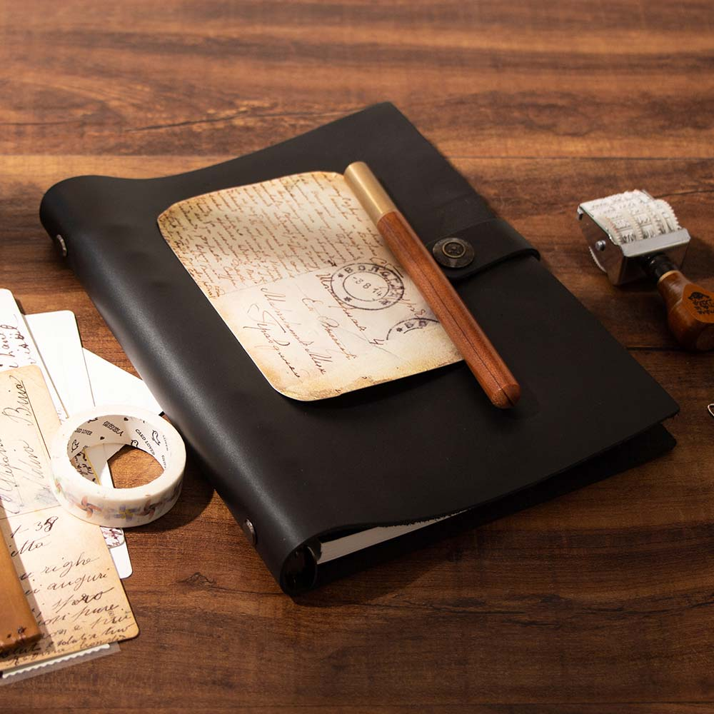 Vintage personality cowhide paper a5 loose-leaf notebook genuine leather diary crazy horse leather notebook