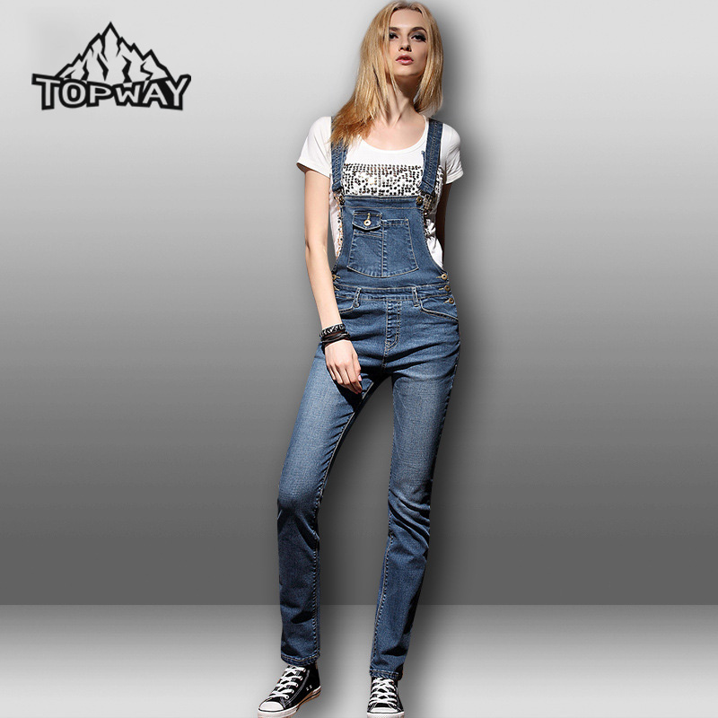 High Quality Women Breathable Denim Pants Romper Jumpsuit Suspenders Jeans Woman Overalls Trousers Pantalones Vaqueros Mujer 2015 new fashion women s overalls trousers plus sizes women casual jeans denim suspenders pants jumpsuit free shipping q548