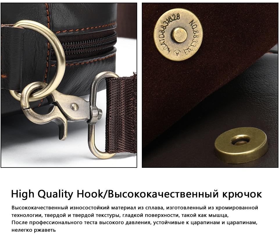 MVA genuine leather men's bag messenger bag men leather crossbody bags for men handbag business men's laptop/shoulder bag 8568