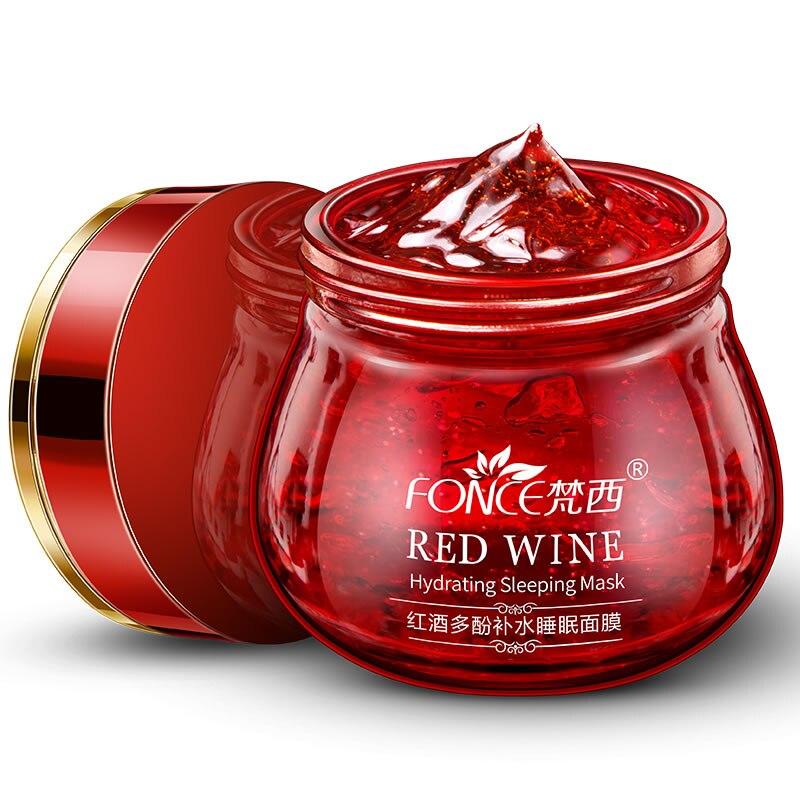 Coreano Vinho Tinto Máscara Facial Essência 100g Branqueamento Creme Hidratante Creme de Noite Creme Anti Envelhecimento Iluminar o Rosto máscara de Dormir