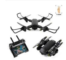 Newest 107 RC Selfie Drone Optical Follow Me Helicopter Quadcopter with Dual Camera HD 1080P FPV VS sg106 cg033 drone(China)