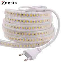New Arrival LED Strip AC 220V SMD 5630 Led Light 120Leds/m Waterproof Ribbon Tape Flexible With EU Plug