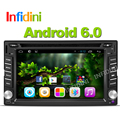 Quad core 2 din android 6.0 gps do carro dvd player de vídeo universal x-trail juke para nissan Qashqai x trail dvd gps in dash 3G wi-fi