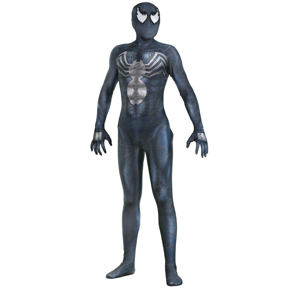 Venom Spider-man Spandex 3D Printing Venom Symbiote Spiderman Costume Fullbody Zentai Suit For Scary Halloween Cosplay Costumes