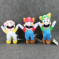 3Styles New Arrival Super Mario Bros Flying Apsaras White Racoon Fire Raccoon Tanooki Mario Kitsune Fox Luigi Plush Doll Toys