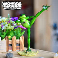 Zhancao frog creative rural decorative office decoration computer desktop kungfu series crafts statues Home decoration dies