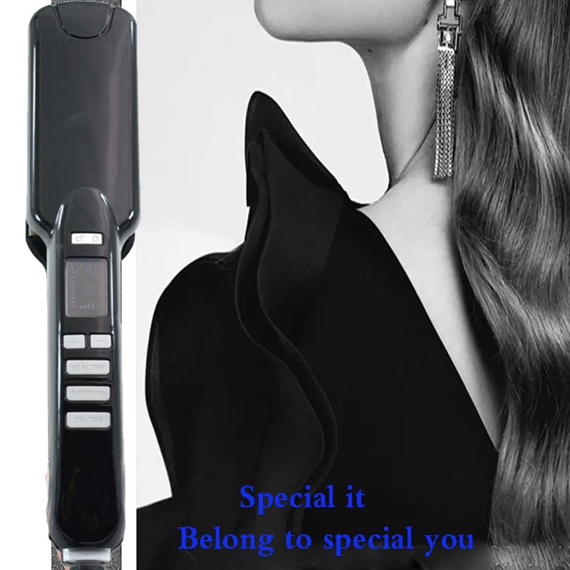 Fashion hot professional hair straightener 450 degree LCD di