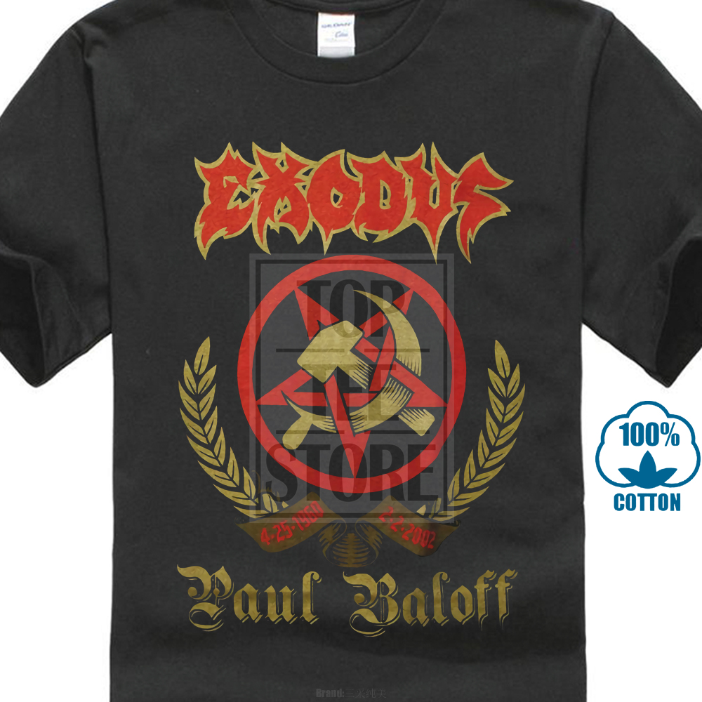 Exodus Paul Baloff   T     Shirt   S M L Xl 2Xl Brand New Official   T     Shirt