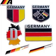3D Metal Germany German National Flag Badge Car Front Grill Grille Emblem Sticker Racing