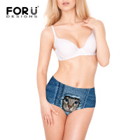 FORUDESIGNS 2017 Fashion Animal Print Seamless Panties High Waisted Elastic Underwear Brand Knickers For Women Plus