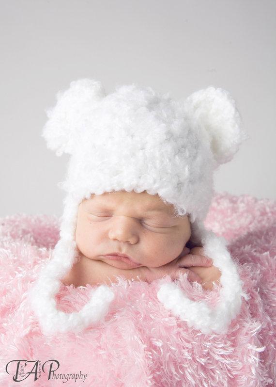 Envío libre, recién nacido fotografía del ganchillo, sombrero recién ...