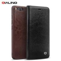 QIALINO Origina Case For Xiaomi Mi 6 Phone Cases Classic Genuine Cowhide Leather Flip Cover Case