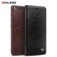 QIALINO Origina Case For Xiaomi Mi 6 Phone Cases Classic Genuine Cowhide Leather Flip Cover Case
