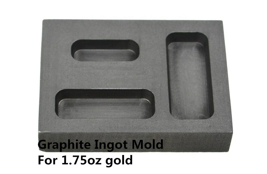 ᗗMolde libre del lingote del grafito para 1.75 oz barra de oro ...