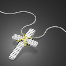 2019 brand new retro cross pendants necklace pure decoration silver men's jewelry,vintage long men cross chain necklaces(China)