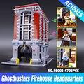 LEPIN 16001 4695 Unids Ghostbusters Sede del parque de Bomberos Modelo Kits de Construcción Modelo conjunto brin quedos 79827
