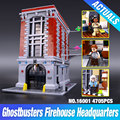 LEPIN 16001 4695Pcs Ghostbusters Firehouse Headquarters Model Building Kits Model set brin quedos 79827