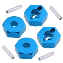 4 Pieces Aluminum Wheel Drive Hex 12mm With Pin 4P Nut HSP 102042 1/10 Upgrade Parts 02134 For RC Model Cars