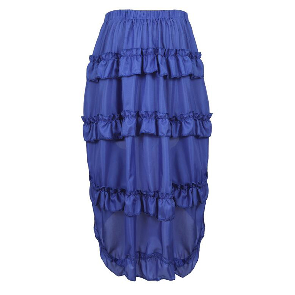 NEW Girls  Black Blue Metallic leopard Stripes lace frilly Skirt Party Gothic
