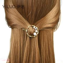 Women headwear cute hair clips for girls vintage pin korean pearl accessories women