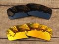 Negro y Rojo Fuego 2 Pares de Lentes De Repuesto Para Gascan Polarizadas gafas de Sol de Marco 100% de Protección UVA y UVB