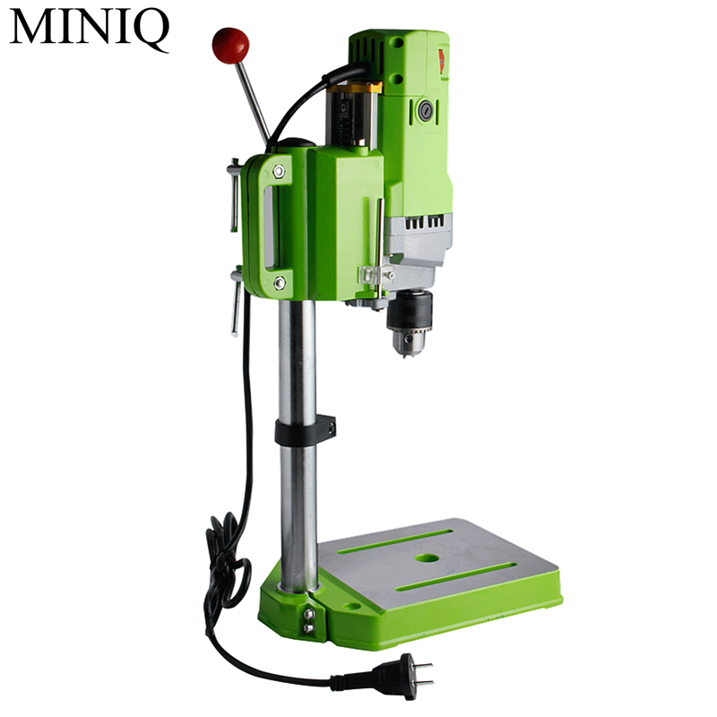 MINIQ Mini Bench Drill 710W Bench Drilling Machine Variable Speed Drilling Chuck 1-13mm For DIY Wood Metal Electric Tools цена