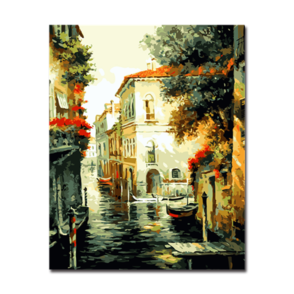 Oil Painting Venice City of water paint picutre By Numbers Digital ...