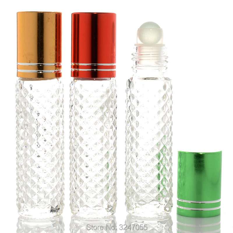 10ML 20pcs/lot 50pcs/lot Portable Clear Glass Empty Roll On Essential Oil Bottle, DIY High Quality Perfume Roll On Container 100pcs new 2ml clear glass roll on bottle with clear cap