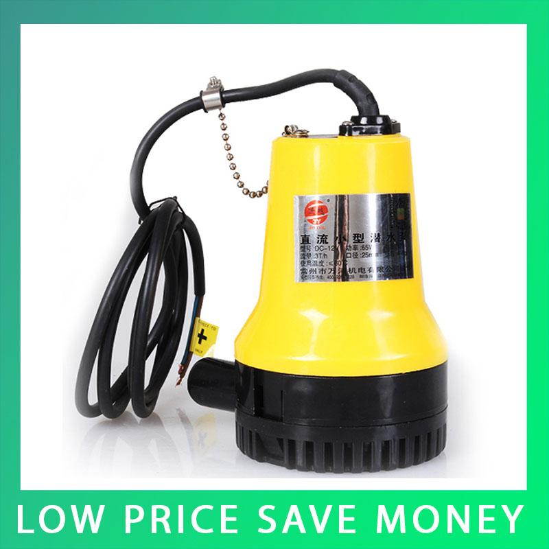 12V Submersible Pump Mini DC Brushless Water Pump Electric Marine Bilge Pump sailflo new mini bilge pump marine water aspirator fountain submersible yacht boat electric marine bilge pump