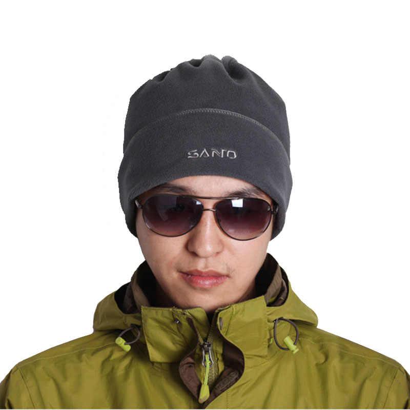 639c9b66464b4 SANTO Brand Mens Warm Hat Unisex Winter Beanie Women Skullies Polar Fleece  Beanies Thicken Hats Hip