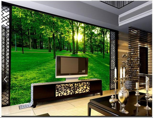 3d Wallpaper Custom 3d Wall Murals Wallpaper Beautiful Green Woods