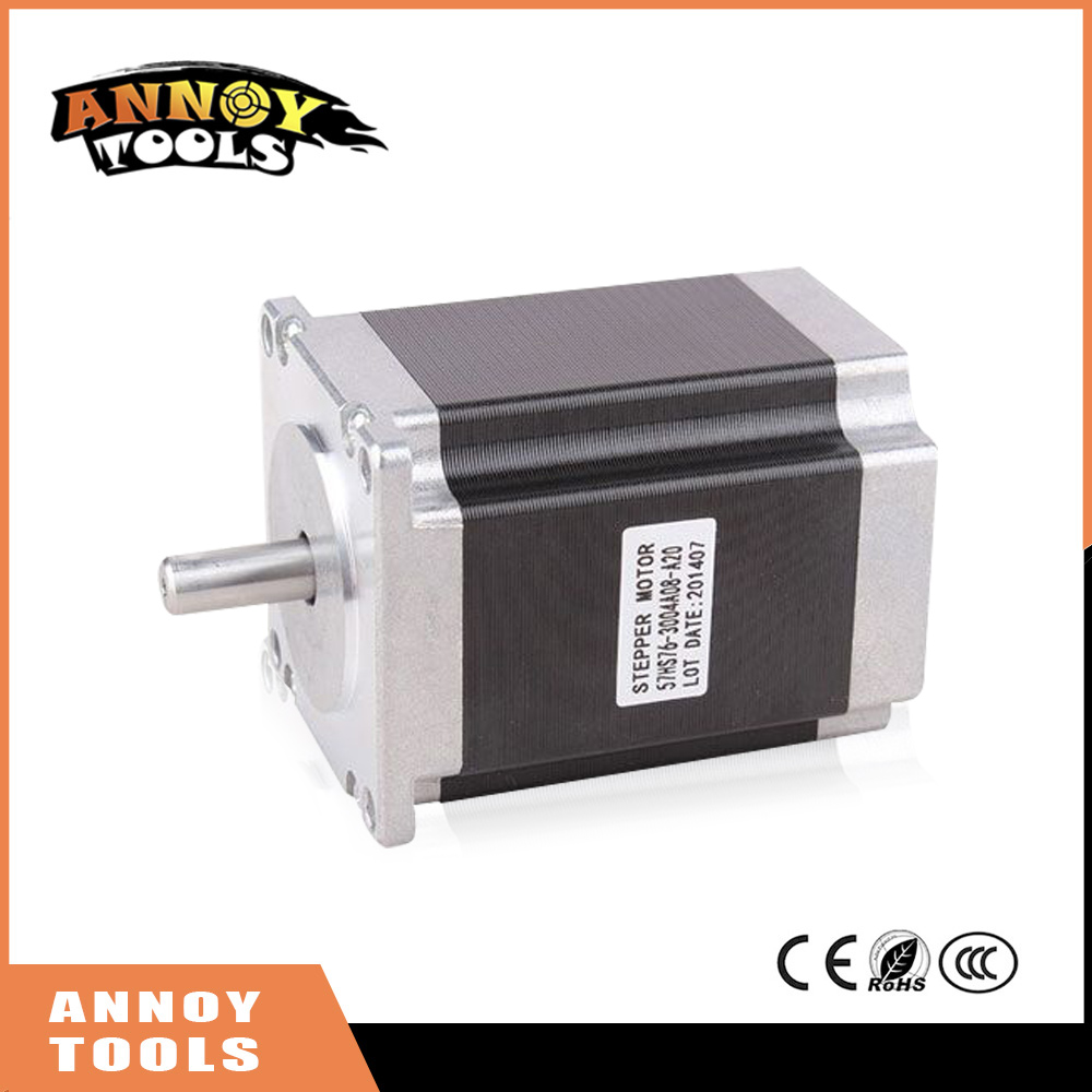 ФОТО ANNOYTOOLS nema23 57HS 2 phase 1.8degrees hybrid stepper motor 8.6V 2A 16.2Kg.cm 76mm 57HS76-2004 DIY CNC Machine 3D printer