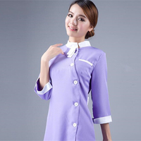 Work Wear uniforms lilac beauty salon clothes hairdressing cosmetic smock medical service nurse served dental clinic overalls