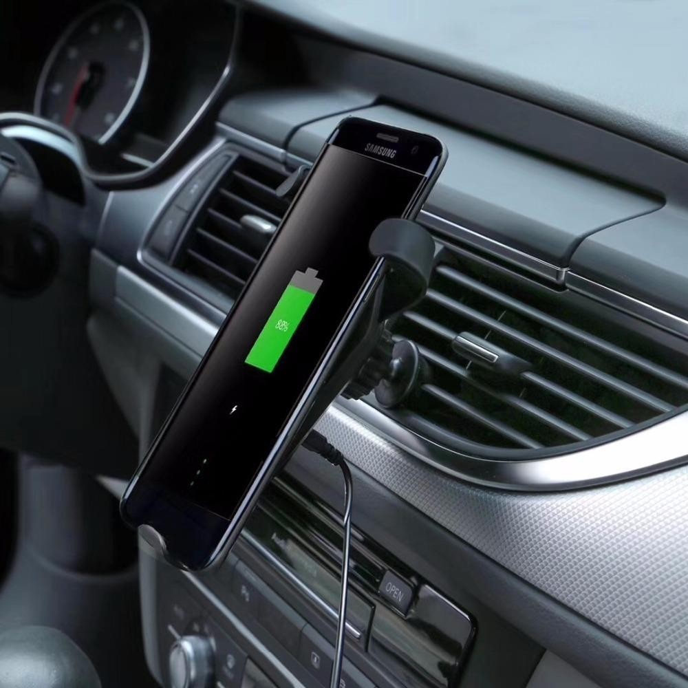 10W Qi Wireless Car Charger Fast Charging Car Holder For