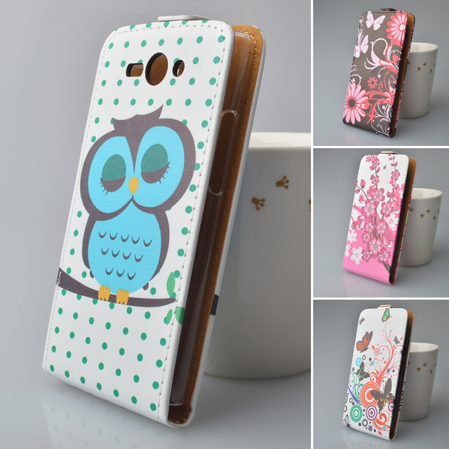 Cartoon Printing PU Leather Case for Philips S388 Cover Flip Vertical Magnetic Phone Bag 5 Colors High Quality