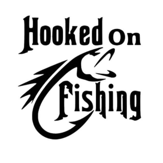 Fishing sticker name catfish fish decal angling hooks for Free fishing stickers