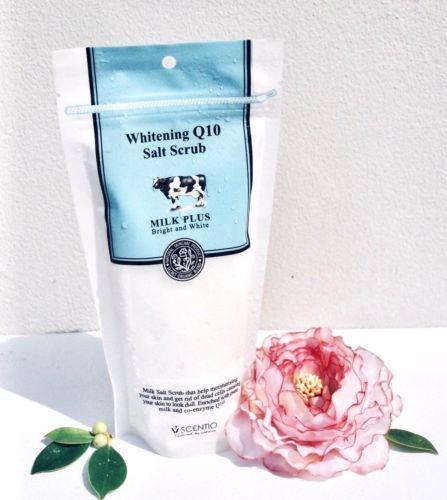 Salt Scrub Milk Whitening Q10 Vitamin E Moisturize Skin Care Exfoliants Spa Body Salt Scrub Milk Whitening Q10 Vitamin E Moisturize Skin Care Exfoliants Spa Body