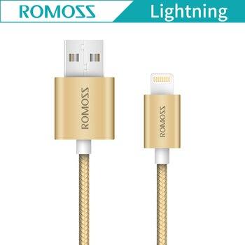 Оригинальный Romoss cb13n USB кабель для iPhone 6 7 iPad Ipod 2.1a быстрый мобильный телефон данных зарядный кабель для передачи данных для IOS
