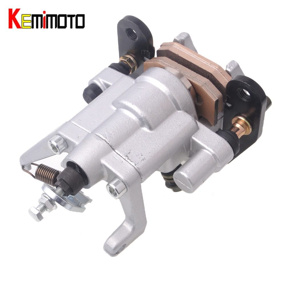 KEMiMOTO For YAMAHA RHINO 450 2006-2009 RHINO 660 2004-2007 UTV 2005 2008 Rear Brake Caliper kit W Pads Assembly aftermarket free shipping motorcycle parts eliminator tidy tail for 2006 2007 2008 fz6 fazer 2007 2008b lack