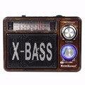 5 W X-BASS Radio FM AM SW con Reproductor de MP3 Amplificador de Karaoke Portátil con Linterna de Radio FM Y4373A