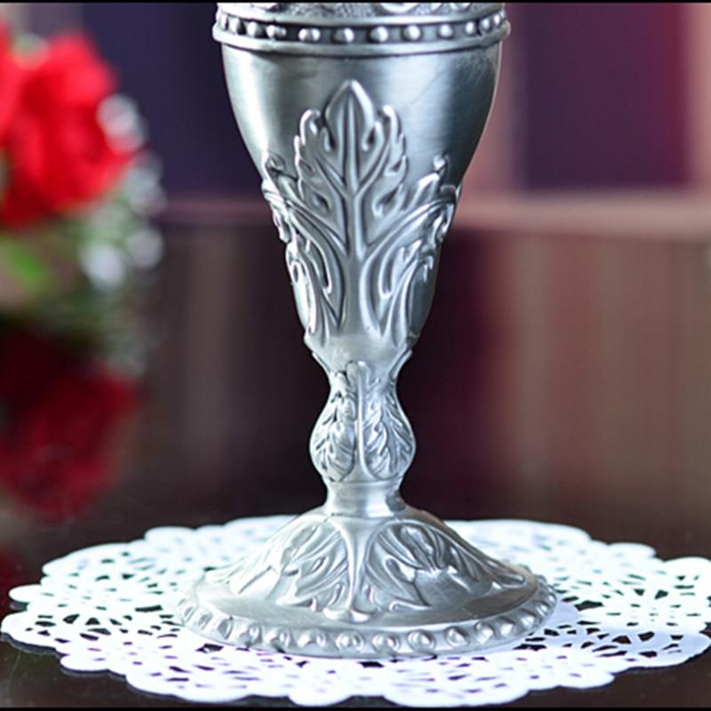 Selling Pewter Plated Metal Flower Vase 3