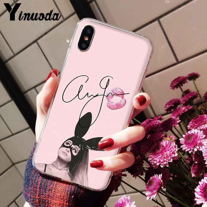 Yinuoda Ariana Grande AG Rainbow DIY ภาพวาดโทรศัพท์สำหรับ iPhone 6 S 6 plus 7 7 plus 8 8 Plus X Xs MAX 5 5 S XR