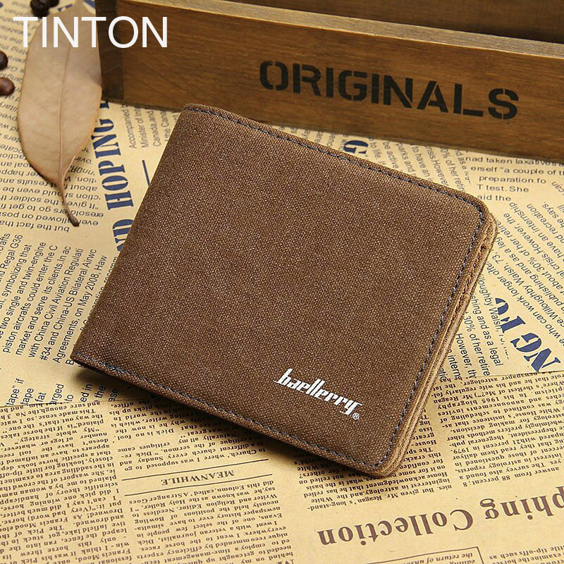TINTON 2018 new men's short wallet Clutch business  card holder Photo folder wallet solid color 2 fold Retro wallets hot sell frank buytendijk dealing with dilemmas where business analytics fall short