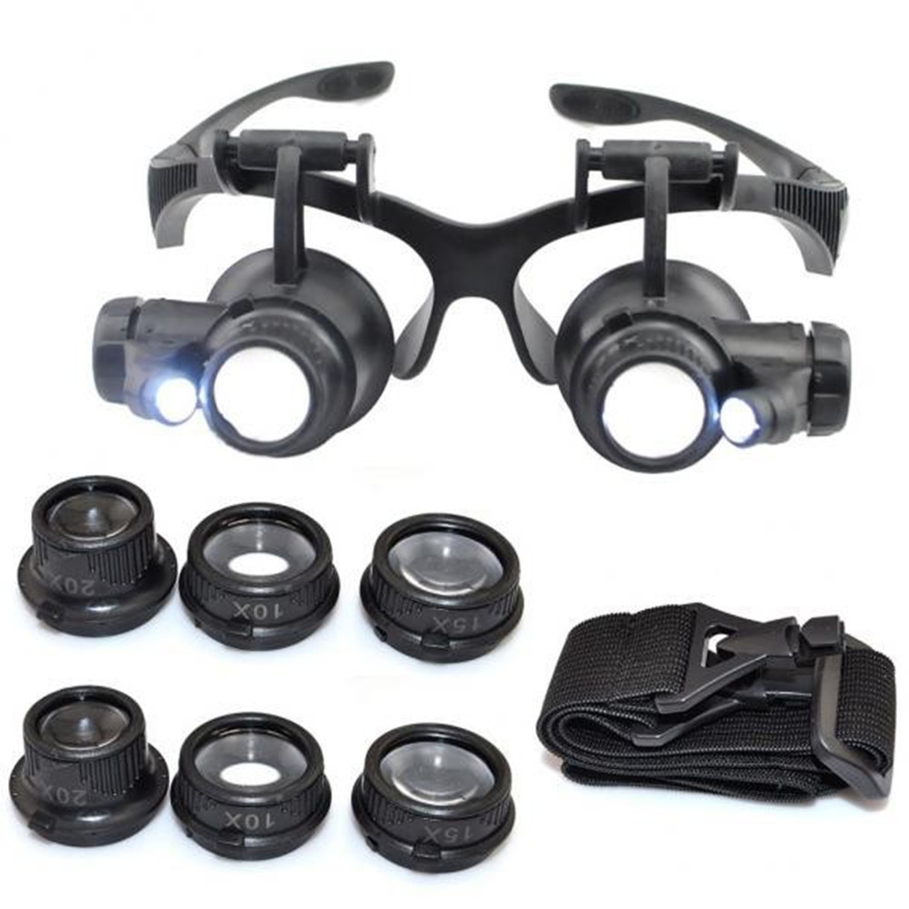 10X 15X 20X Black Jewelers Loupe Magnifier Magnifying Eye Loop Watchmakers Repair Eye Loupe Glass Tools 15X